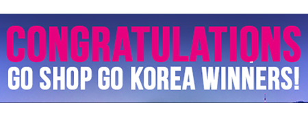 Go Shop Go Korea Winner Announcement