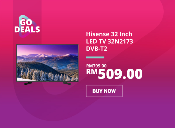 1910 GO Deal -Hisense 32 Inch LED TV 32N2173 DVB-T2 600 x 440