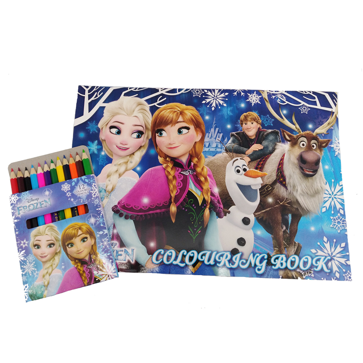 DISNEY FROZEN COLORING BOOK WITH COLOR PENCIL SET | Go Shop