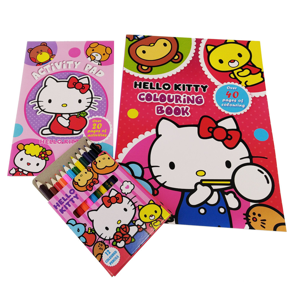 Hello Kitty Activity N Coloring Book With Color Pencil Set