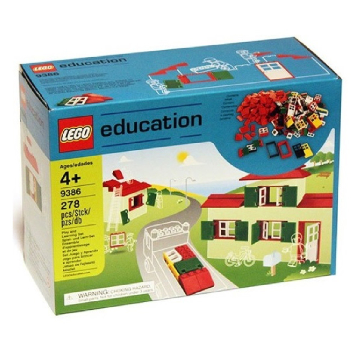 Lego Education 9386 Doors, Windows and Roof Tiles Set