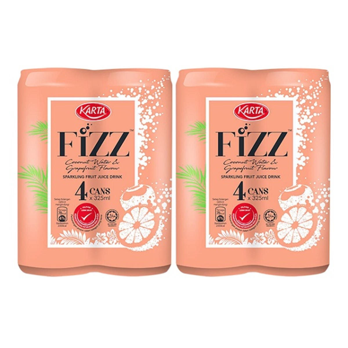 Karta Fizz Sparkling Fruit Juice 325ml X4s X2cluster Go Shop