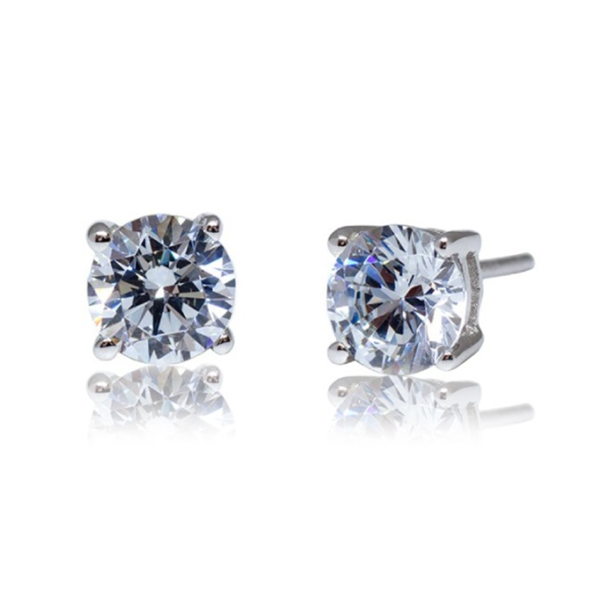 triangle products with in sterling white earrings topaz stud solitaire