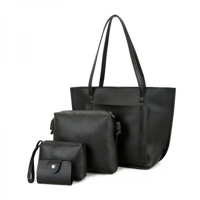 SoKaNo Trendz Premium Style Korean Style PU Leather Bag (Set of 4) - Black  RM69.90 ... d461e8dcdb
