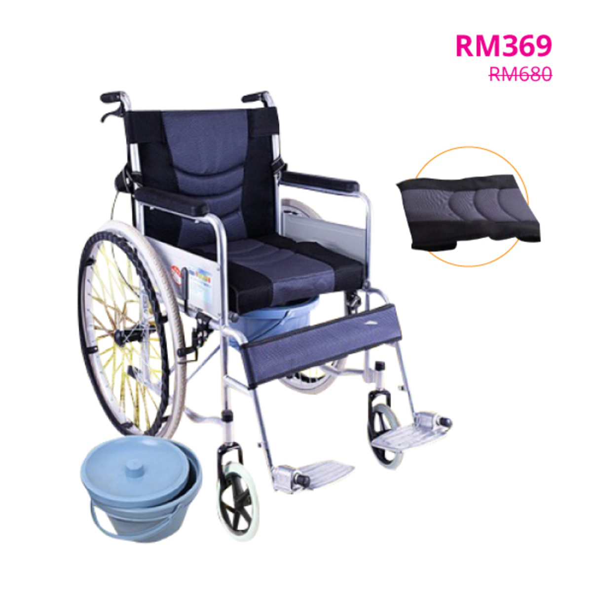 32415f50433 Wheelchair Squat Elderly Folding Portable Scooter Disabled