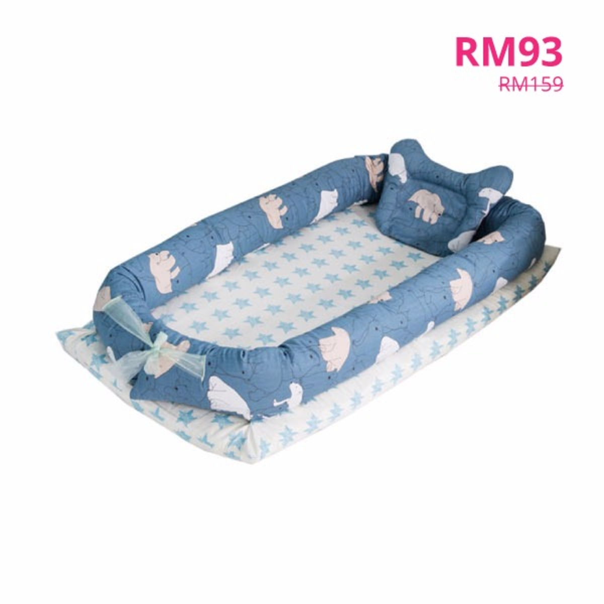 New Baby Crib 0 2 Years Baby Bed With Pillow Portable Foldable Crib
