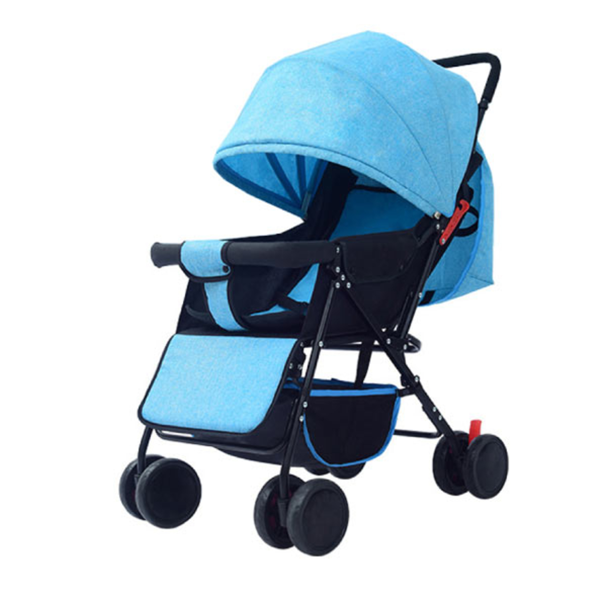 Baby Stroller Lightweight Folding Carrier 8 Wheels Suspension Canopy
