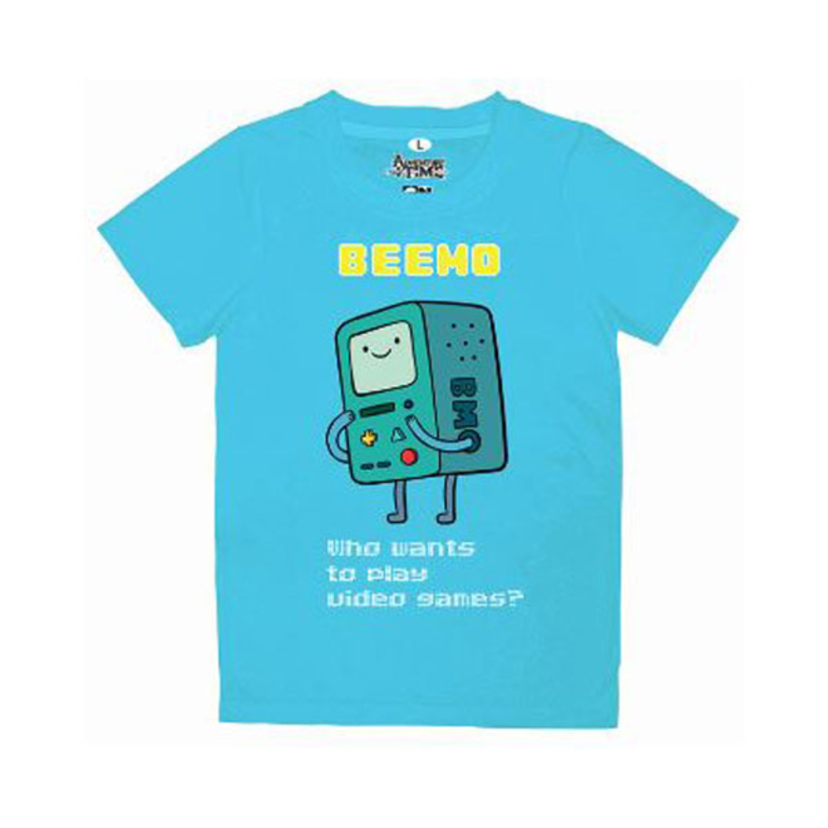 Adventure Time Who Wants to Play Video Games BMO T-Shirt for Adult [Blue]  [E1N0110001221105] | Go Shop