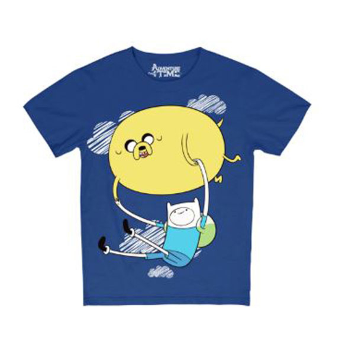 f682ada3b60 Adventure Time Finn and the Jake-Air Balloon Round Neck T-Shirt for Kids   Navy   E1N0110002121801
