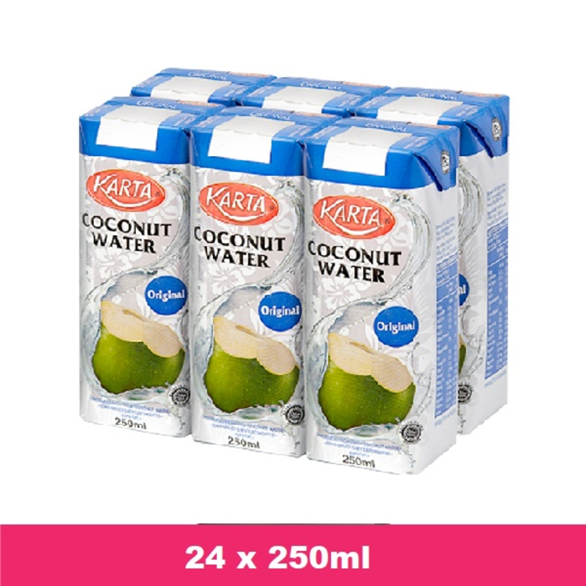 Karta Coconut Water Original 250ml X24 Go Shop