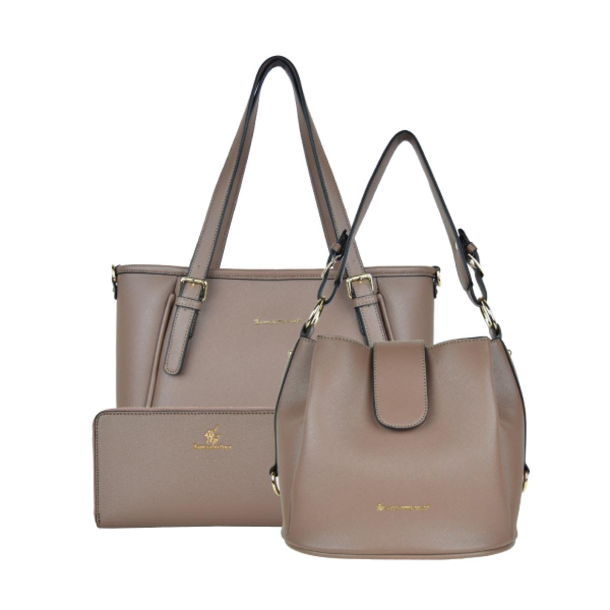 Lancaster Polo Saffiano Handbag Set