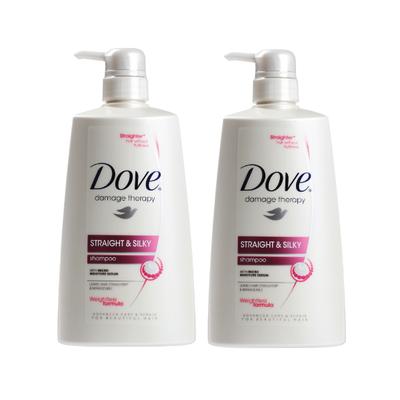 Dove Shampoo Straight and Silky 700ml X2   Go Shop