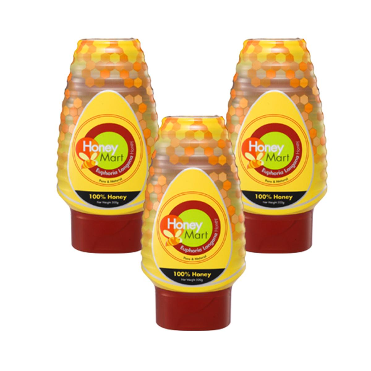 Honey Mart Euphoria Longana Honey 500gm x3 | Go Shop