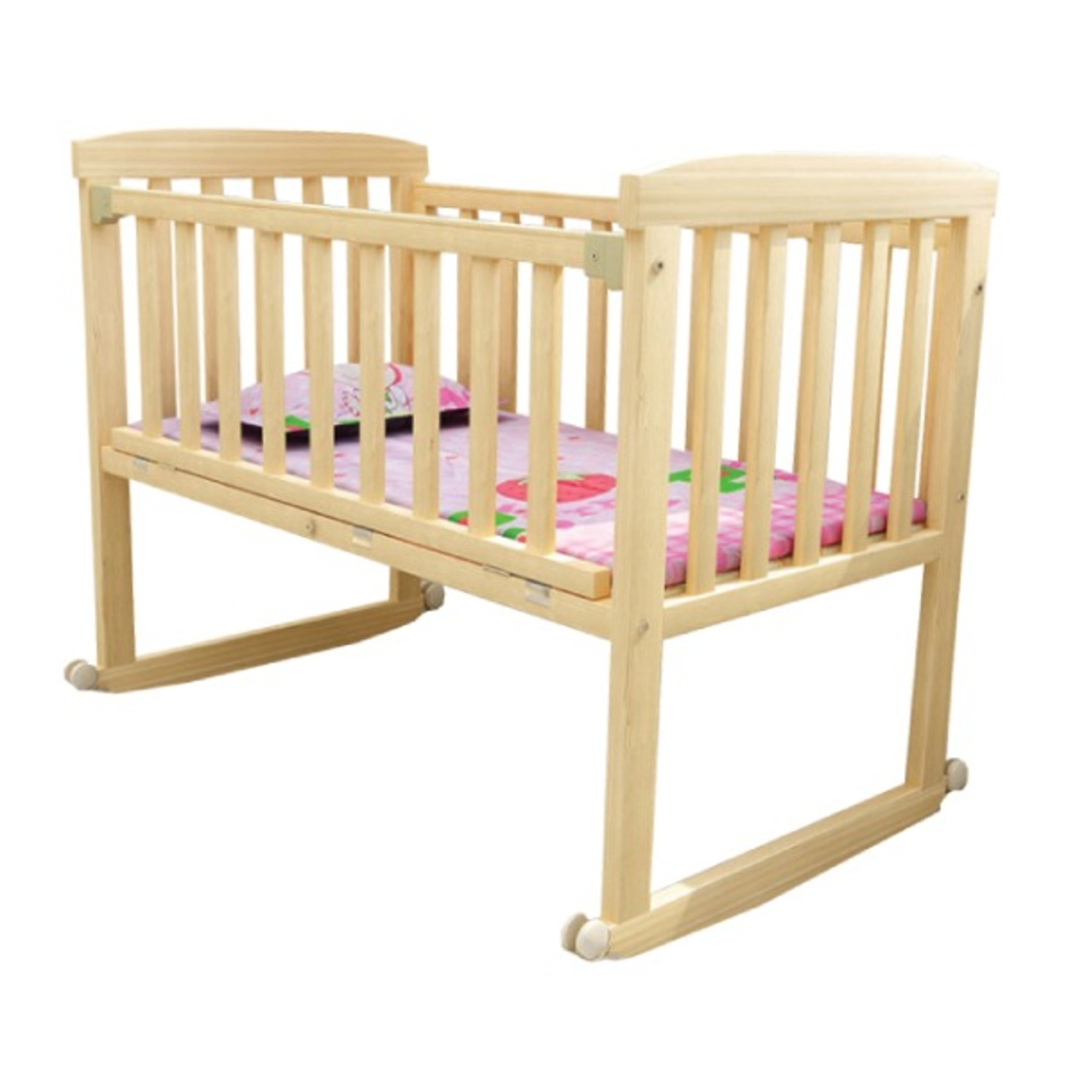 Osuki Cradle Baby Cot Wooden Rocking Foc Mosquito Net N Holder Go Shop