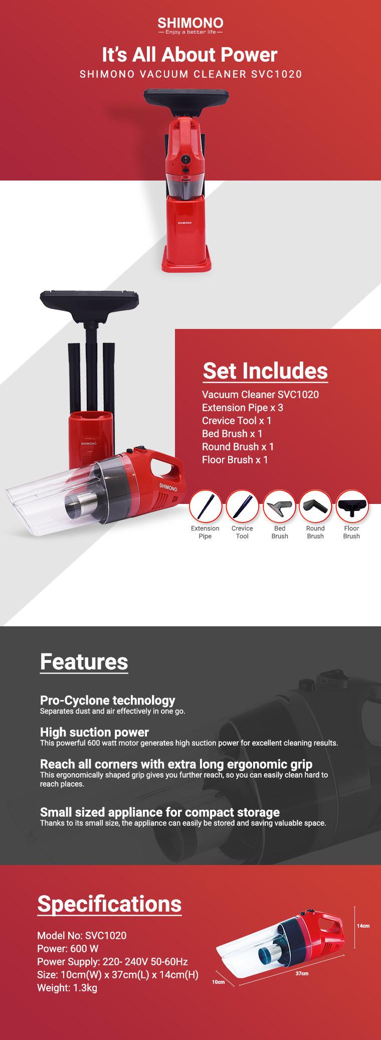 shimono vacuum cleaner svc1020