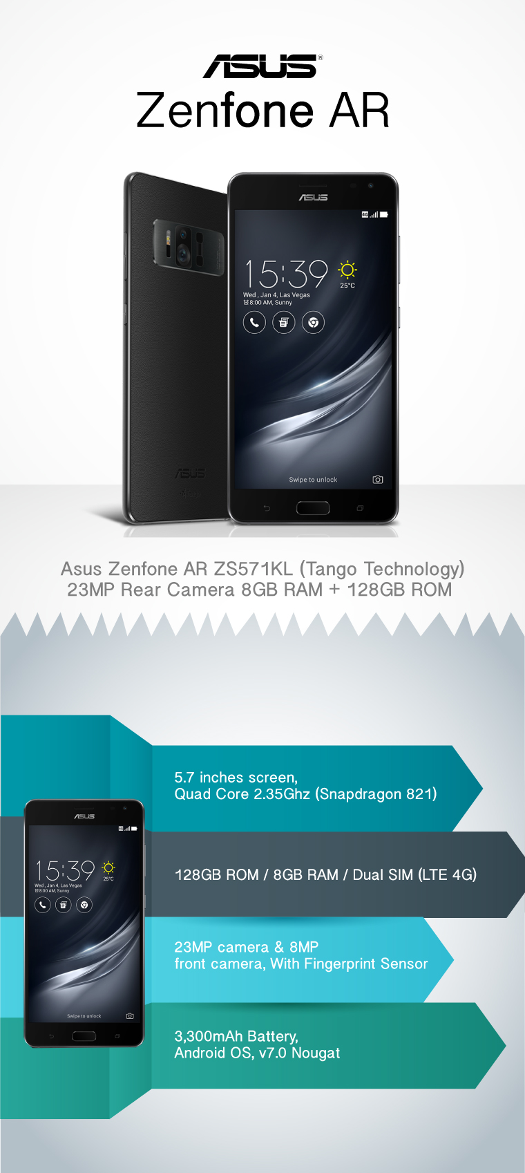 Asus Zenfone Ar 8gb Ram 128gb Rom O End 7 10 2018 6 15 Pm