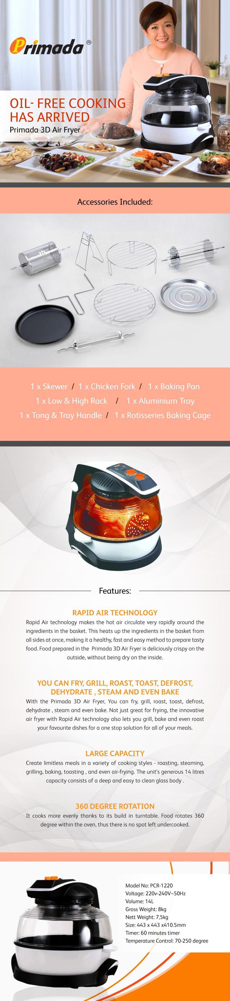 Primada 3D Air Fryer | Go Shop