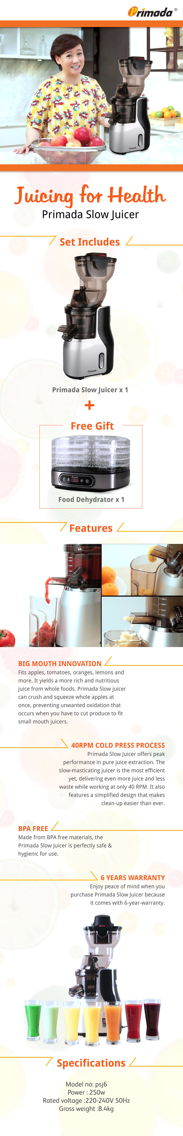 Primada Slow Juicer Promotion : Primada Slow Juicer Go Shop