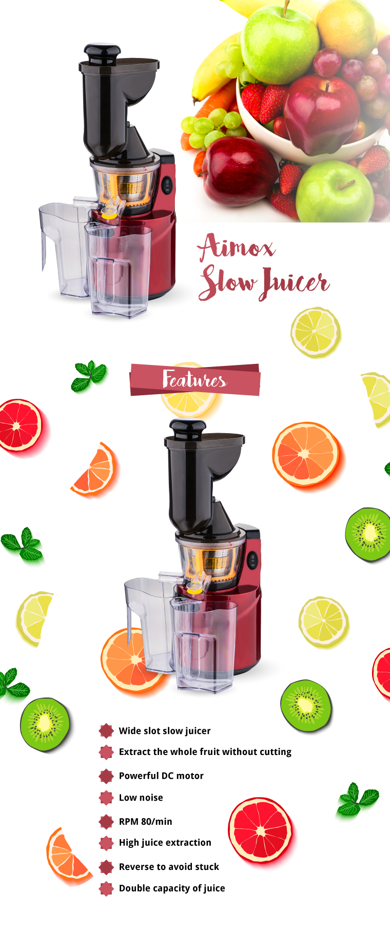 Aimox Slow Juicer Review : Aimox Slow Juicer (AI-138) Go Shop
