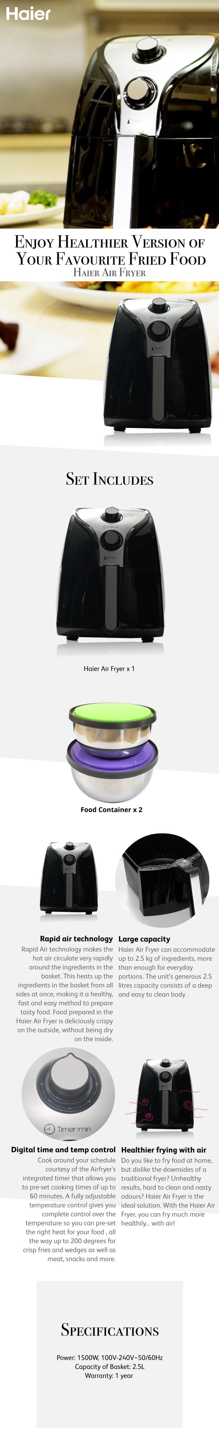 Haier Air Fryer | Go Shop