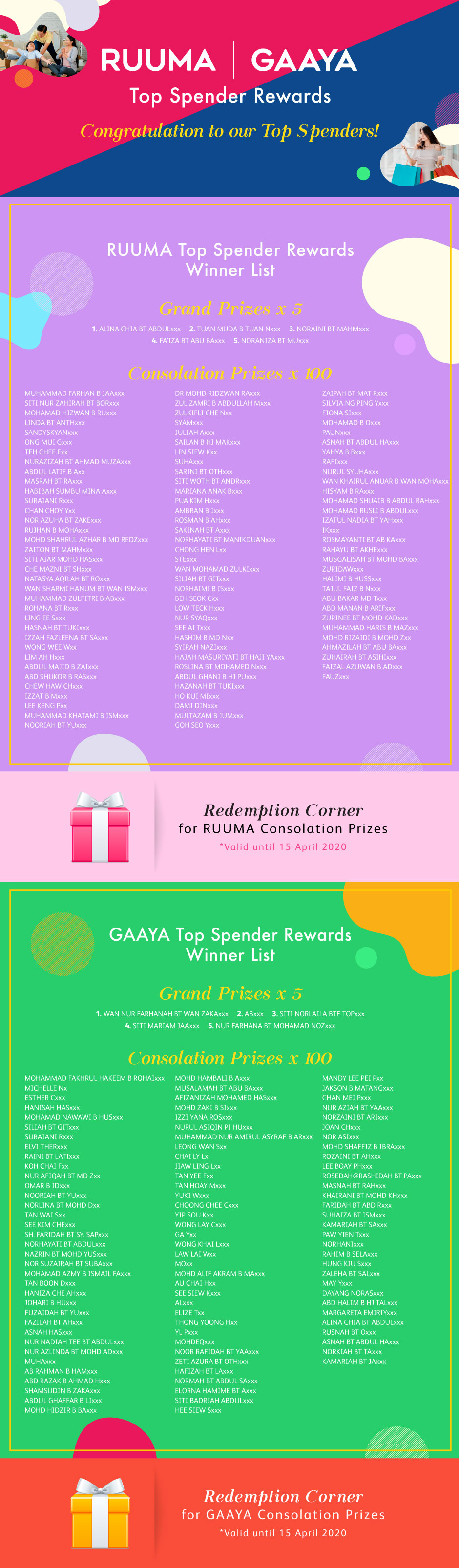 RUUMA & GAAYA Fair - Announcement List 940x